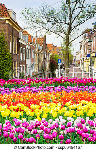 old town, Delft, Holland - csp66494167