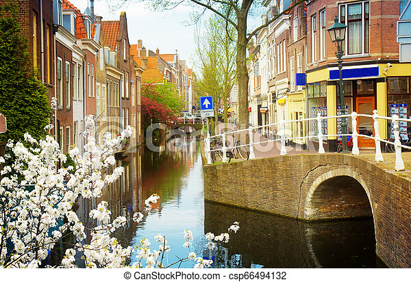 old town, Delft, Netherlands - csp66494132