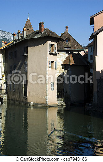 Old town of Annecy - csp7943186