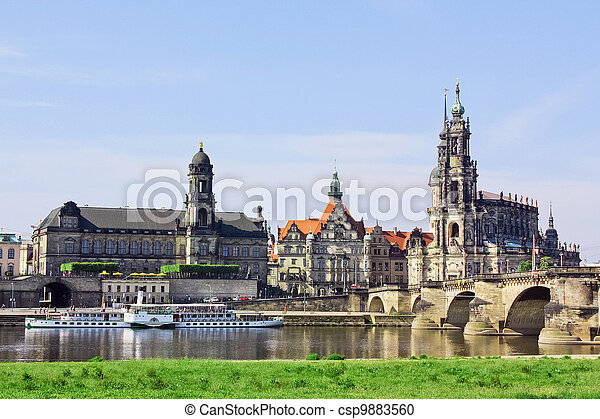 Old town of Dresden,Saxony,Germany - csp9883560