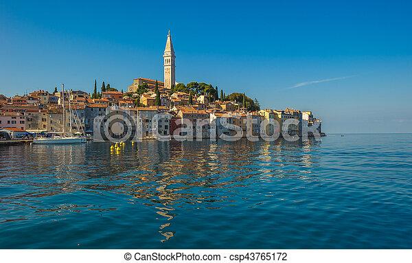 Old town of Rovinj, Istrian Peninsula, Croatia - csp43765172