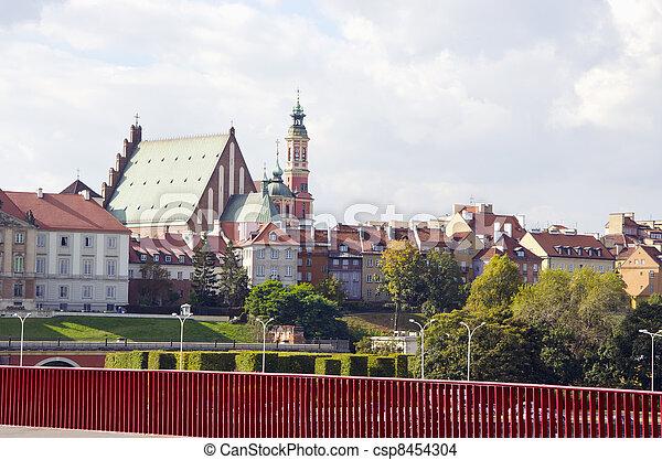 old town Warsaw, capital Poland - csp8454304