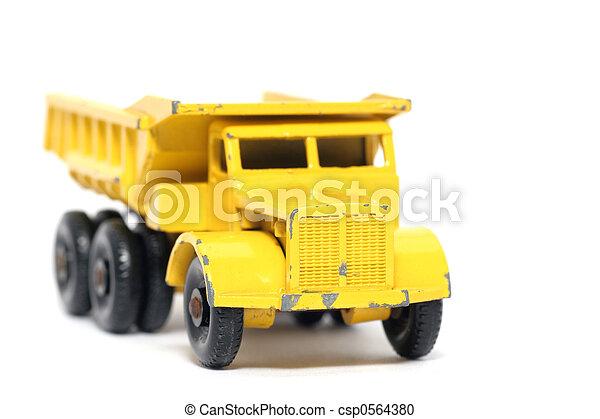 Old toy Dump Truck - csp0564380