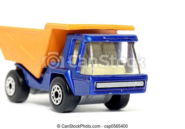 Old toy dump truck - csp0565400