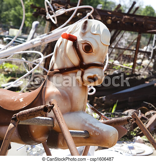 Old toy horse - csp1606487