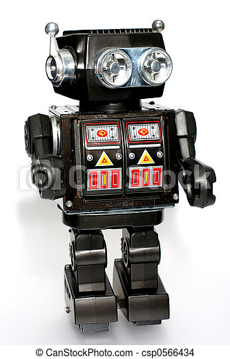 old toy tin robot. one of the many thousand toys my