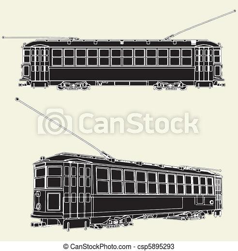 Old Tram Trolley - csp5895293