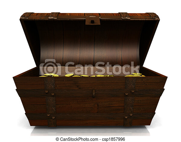Old treasure chest. - csp1857996