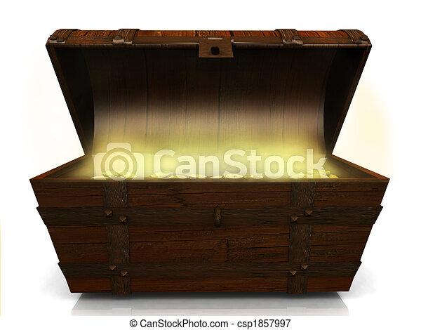 Old treasure chest. - csp1857997