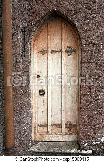 old tudor chapel door or old castle door - csp15363415 & Stock Photography of old tudor chapel door or old castle door ... Pezcame.Com