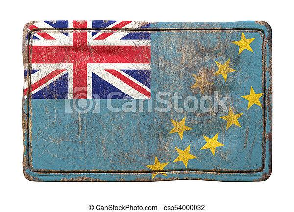 Old Tuvalu flag - csp54000032
