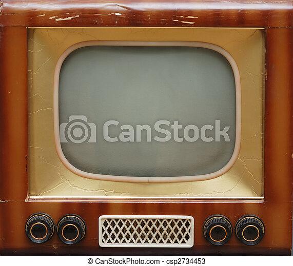old TV set - csp2734453