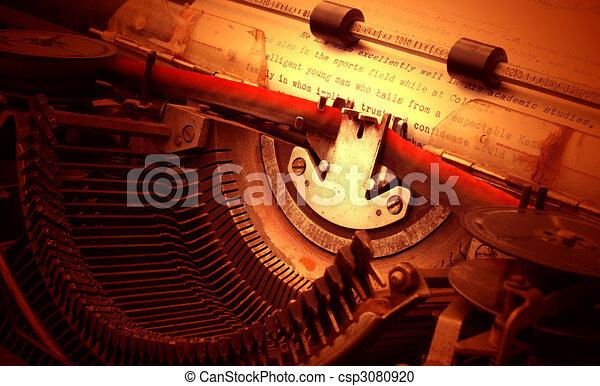 old typewriter - csp3080920