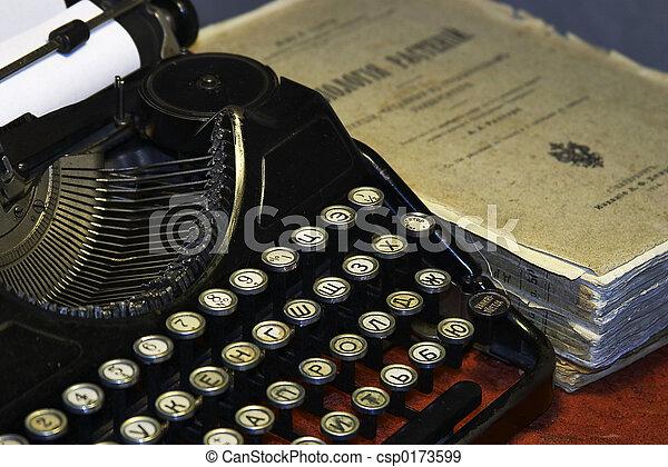 old typewriter - csp0173599