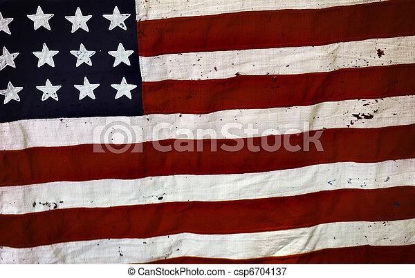 Old USA flag - csp6704137