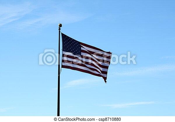 Old USA Flag - csp8710880