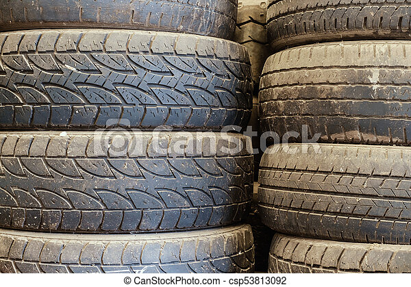 Used Car Tires >> Old Used Car Tires Stacked Up In The Storage Area