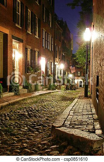 old victorian boston - csp0851610