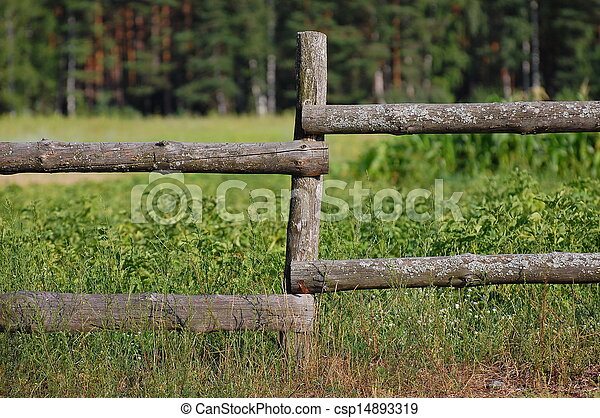 Old village fence - csp14893319
