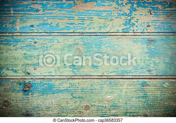 Old Vintage Blue Wooden Texture Background Close Up