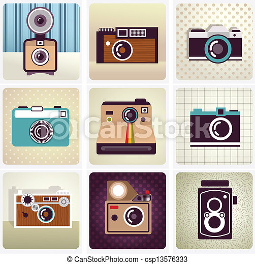 old vintage camera set - csp13576333