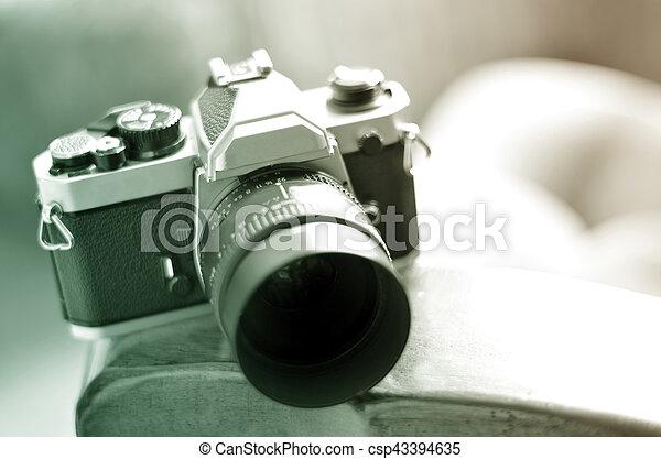 old vintage film camera with manual focus lens vintage old film rh canstockphoto com compact camera with manual focus camera with manual focus ring