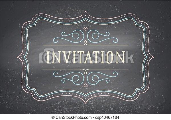 Old vintage frame with text invitation greeteng card with vector old vintage frame with text invitation csp40467184 stopboris Choice Image