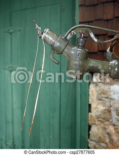 Old vintage gasoline pump - csp27877605