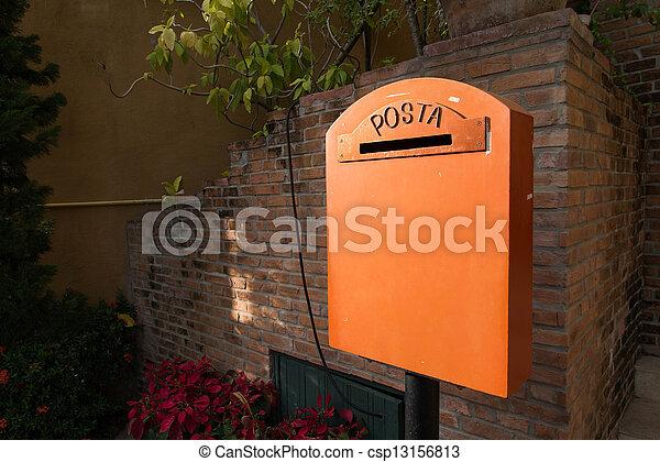 Old vintage mailbox - csp13156813