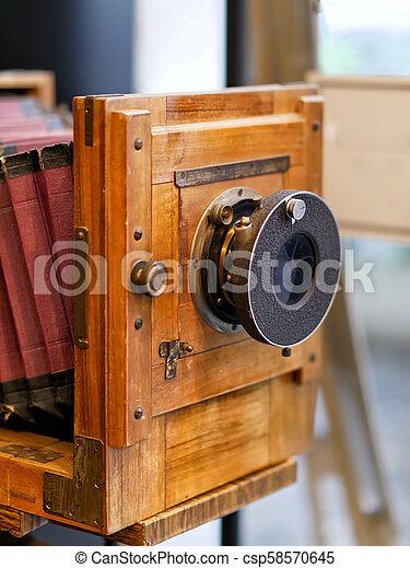 Old Vintage or retro Camera - csp58570645
