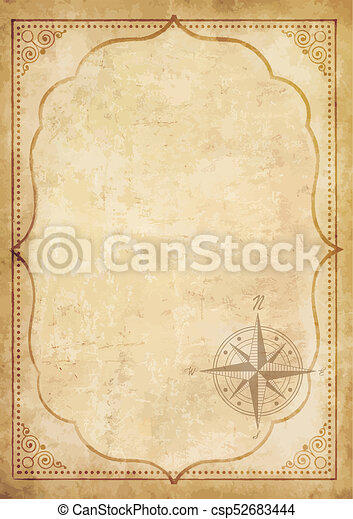 Old vintage paper with wind rose compass sign highly detailed old vintage paper with wind rose compass drawingcsp52683444g maxwellsz