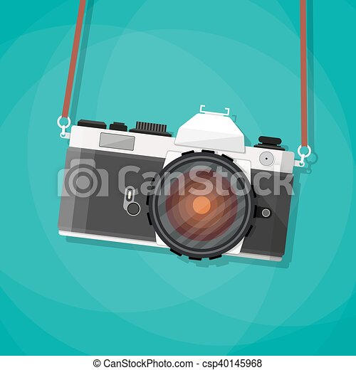 Old Vintage Photo Camera With Strap