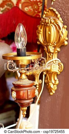 Old vintage wall lamp - csp19725455
