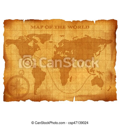 Old vintage world map ancient manuscript grunge paper vector old vintage world map ancient manuscript grunge paper texture csp47139024 gumiabroncs Images