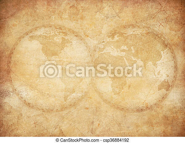 Old vintage world map background old world map vintage stylization old vintage world map background csp36884192 gumiabroncs Gallery