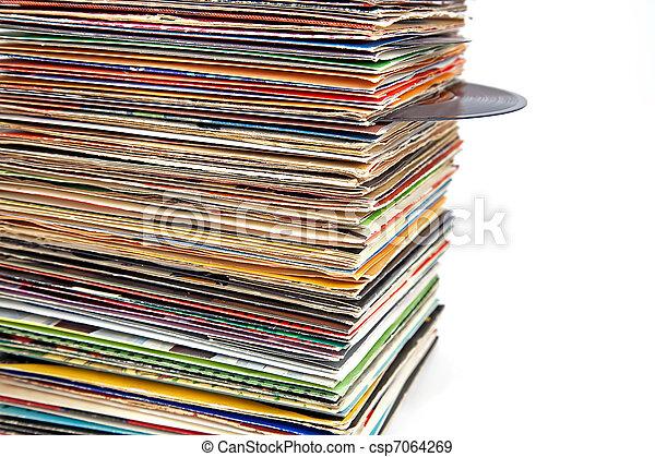 old vinyl records - csp7064269