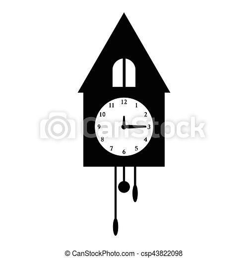 Old Wall Clock Icon Simple Style Old Wall Clock Icon Simple Illustration Of Old Wall Clock Vector Icon For Web Canstock