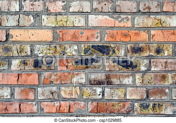 old wall from a red brick. background 1 - csp1029885