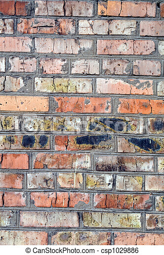 old wall from a red brick. background 2 - csp1029886