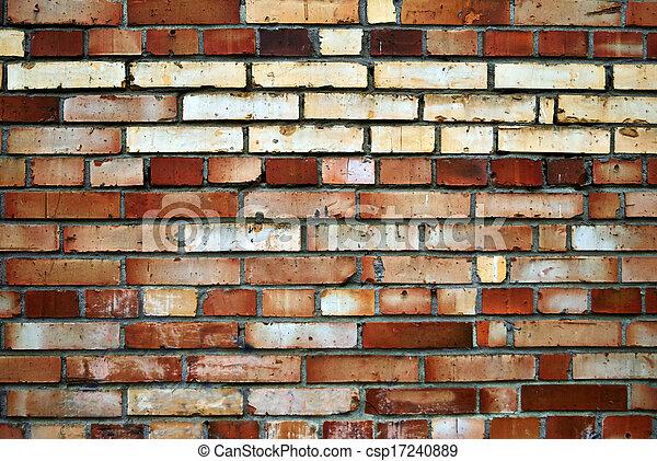 Old wall of brick. - csp17240889