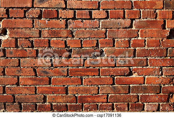 Old wall of red brick. - csp17091136