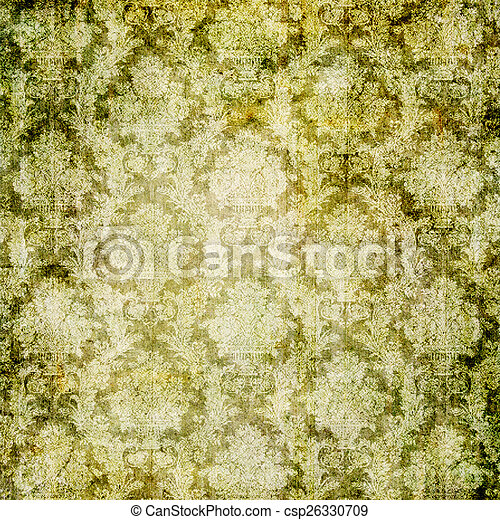 Old Wallpaper Background Artwork In Retro Style Stock Photography