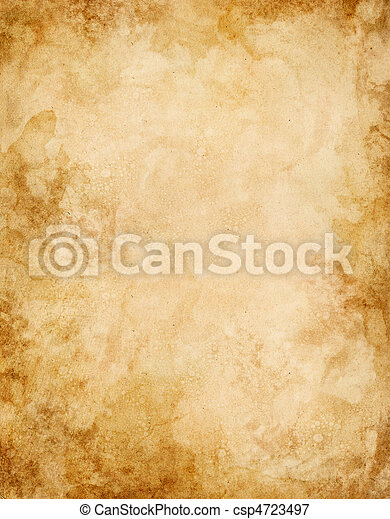 Old Water Stained Paper - csp4723497