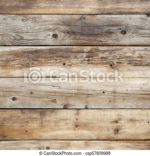 Old weathered wood wall background square format - csp57609988