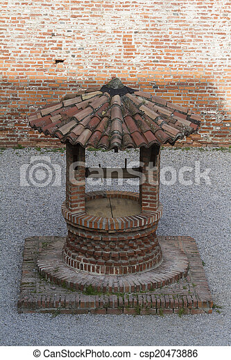 old well in the castle - csp20473886