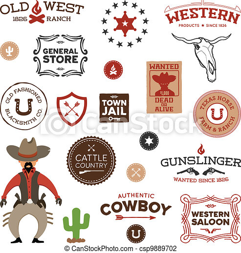 Old western designs - csp9889702