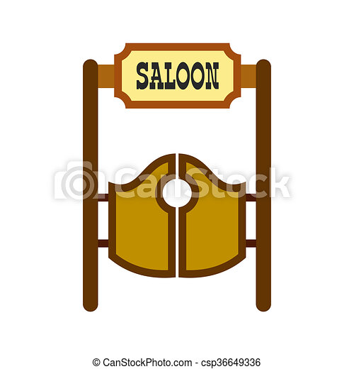 old western swinging saloon doors icon in flat style drawings rh canstockphoto com old western town clipart old west wagon clipart