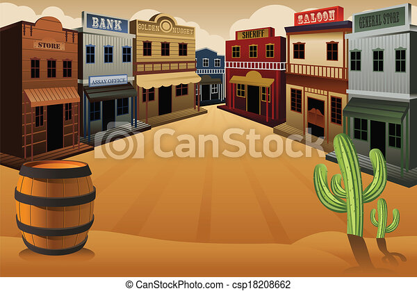 a vector illustration of old western town clip art vector search rh canstockphoto com old west clipart borders the wild west clipart