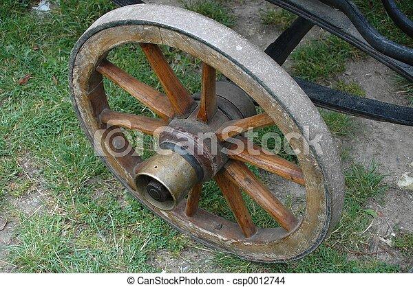 Old Wheel - csp0012744
