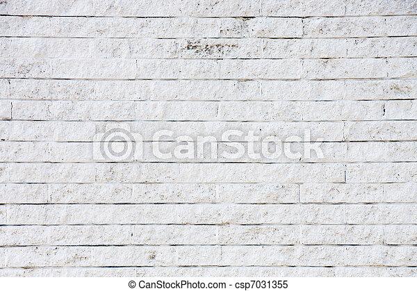 Old White Brick Wall - csp7031355